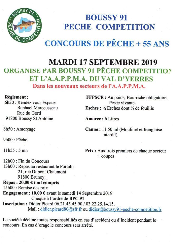 Concours + 55 Ans 17 septembre 2019