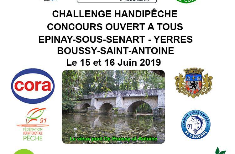 Challenge Handipêche 15 et 16 juin 2019