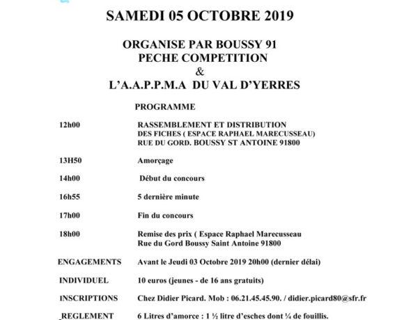 Concours Féminin samedi 5 octobre 2019