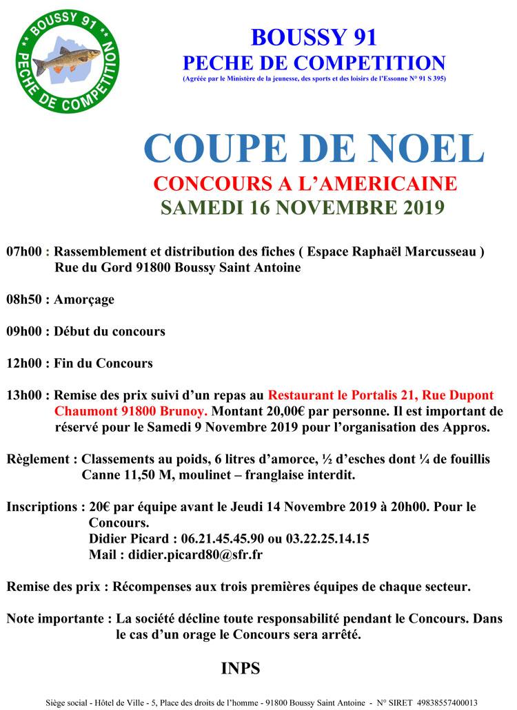 Concours coupe de Noël 16 novembre 2019