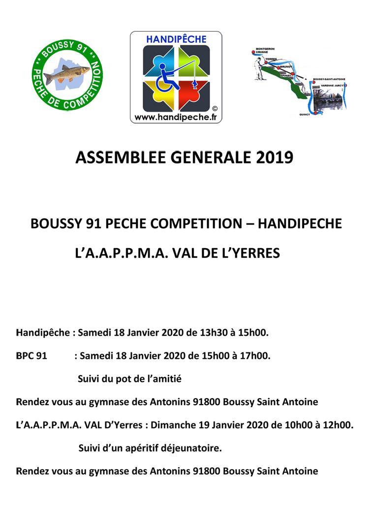 Assemblée générale 19 janvier 2020