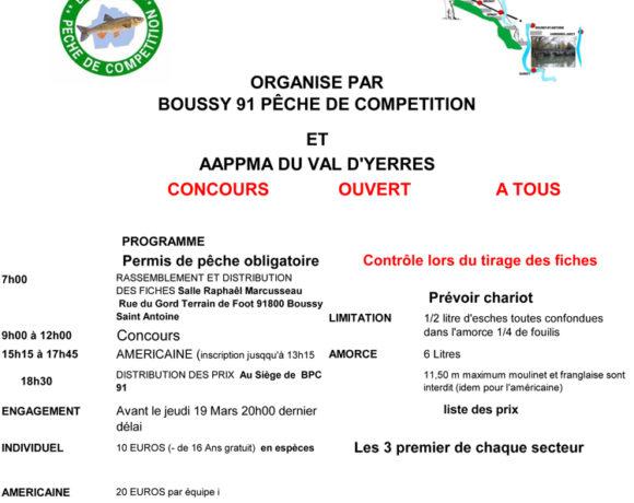 Concours de pêche 22 mars 2020