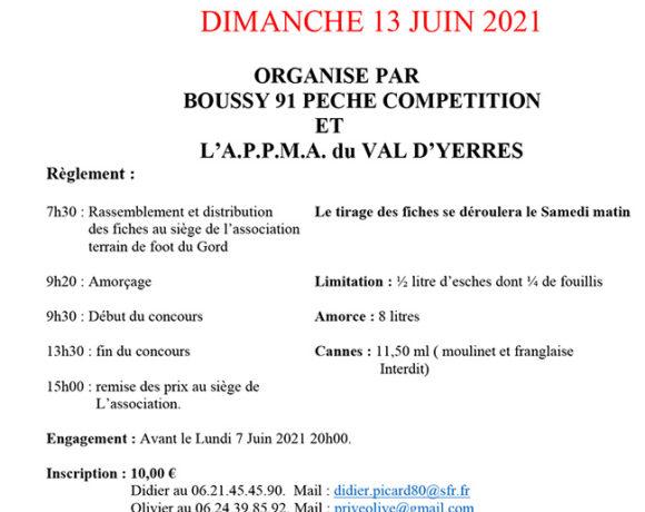 Concours de pêche 13 juin 2021